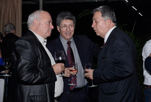 Gonzalo Escobar García, Gabriel García González y Rafael Roldán Jiménez, profesionales de la minería