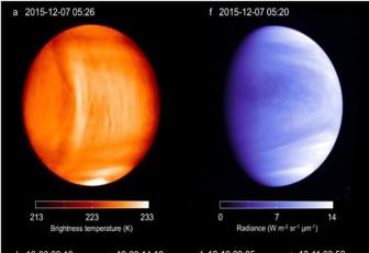 Posible onda gravitatoria en atmósfera de Venus