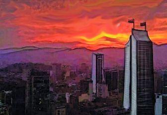 Ciudad de lunesanaranjado