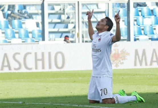 Bacca volvió al gol y le dio el triunfo al Milan ante Sassuolo