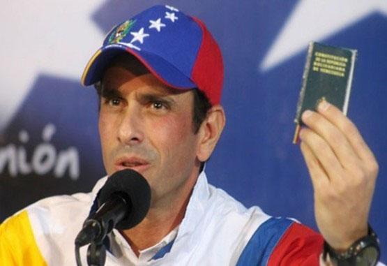 Capriles invitó a presionar elecciones en Venezuela