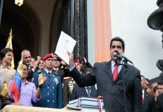 "Nicolás Maduro juramentó comando contra plan ""golpista"""