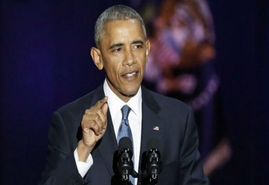 Obama se despidió desde Chicago como presidente de los Estados Unidos