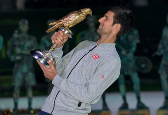Novak Djokovic fue el campeón del torneo de Catar