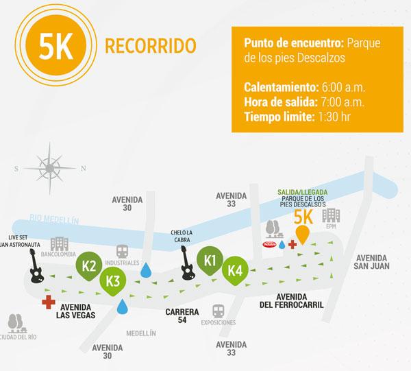 carrera atlética del rock en Medellín 5k