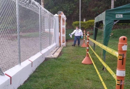 AngloGold Ashanti Desinfección de las áreas comunes en el proyecto Minera de Cobre Quebradona.