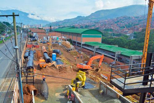 Avances en las obras de la Línea P del Metrocable de Medellín