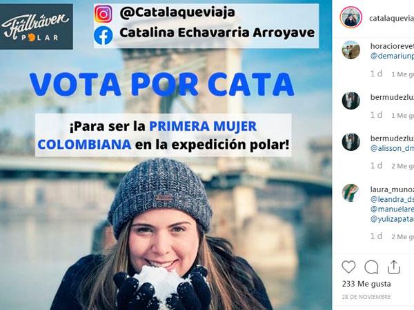 ¿Me ayudas a ser la primera mujer colombiana en la Expedición Polar?