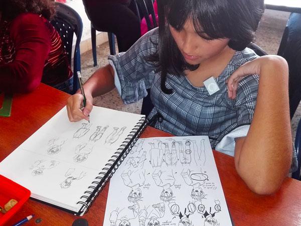 Talleres vacacionales de dibujo manga