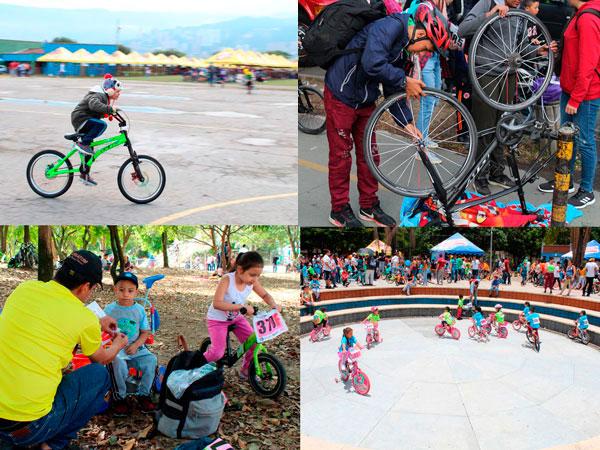 Montando Bici en el Clásico de Ciclismo Infantil