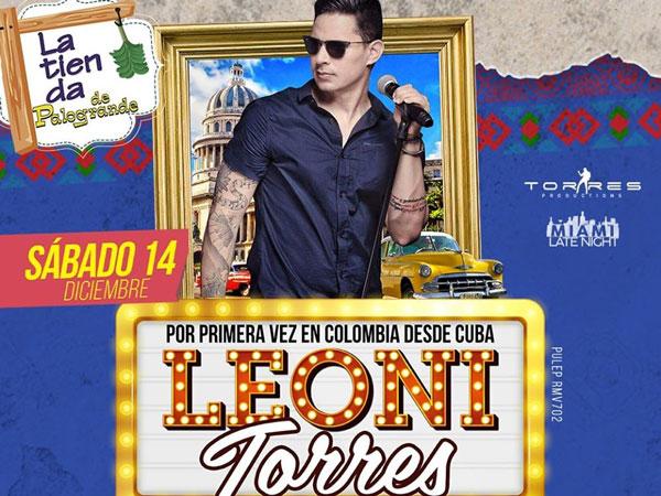 Por primera vez, Leoni Torres en Medellín
