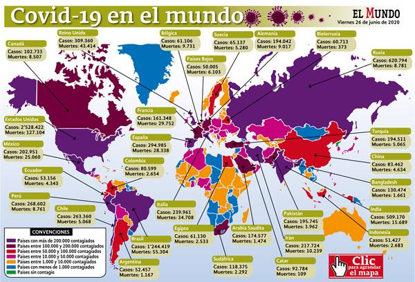Mapa mundo coronavirus