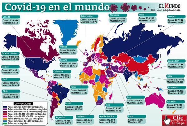 Mapa coronavirus mundo