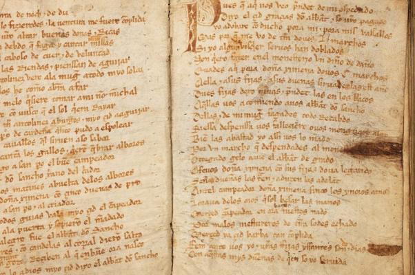 Manuscrito del Cantar del Mio Cid