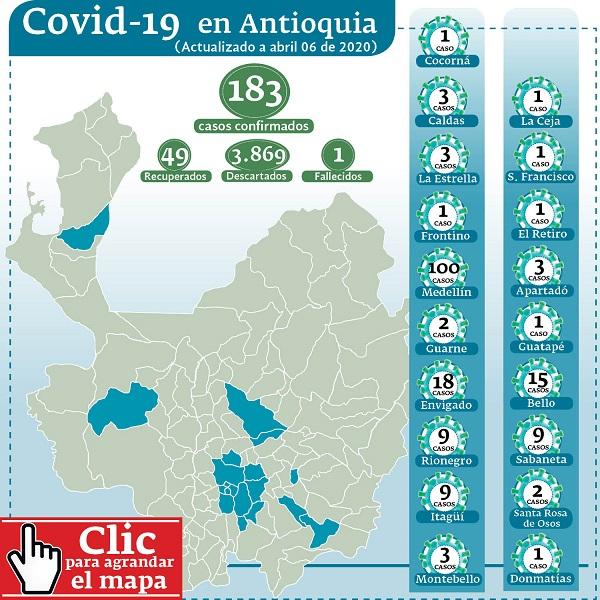 mapa antioquia covid 19 a 6 de abril