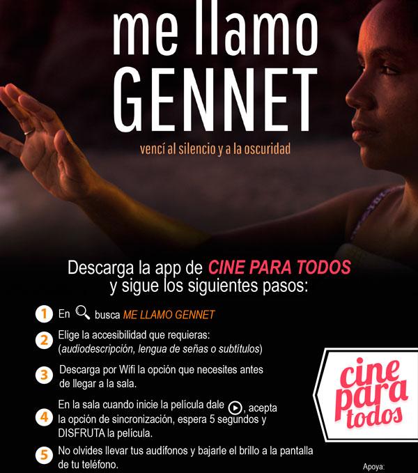 #MeLlamoGennet en Cine Para Todos
