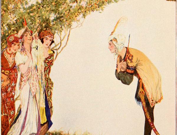 Ilustración cuento del Príncipe Ahmed