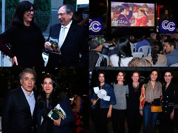 La premiere de Botero fue entre amigos