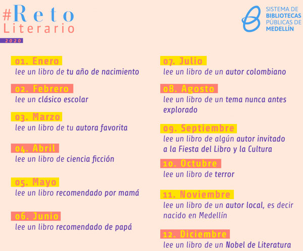 #RetoLiterario