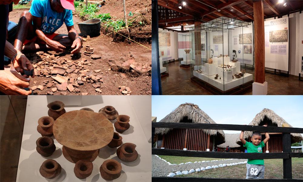 Pobladores construyen el museo en Santa María de la Antigua