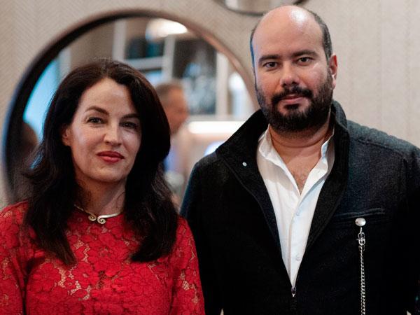 embajadora en Suiza, Sofía Gaviria, y el cineasta Ciro Guerra.