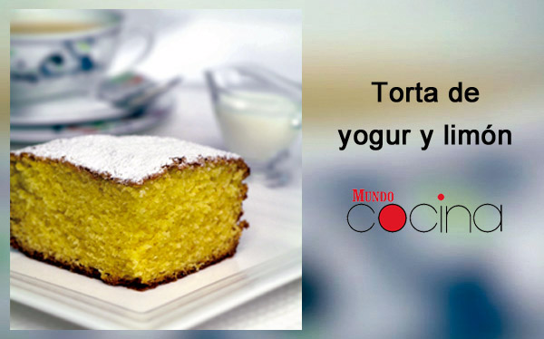 Torta de yogur y limón