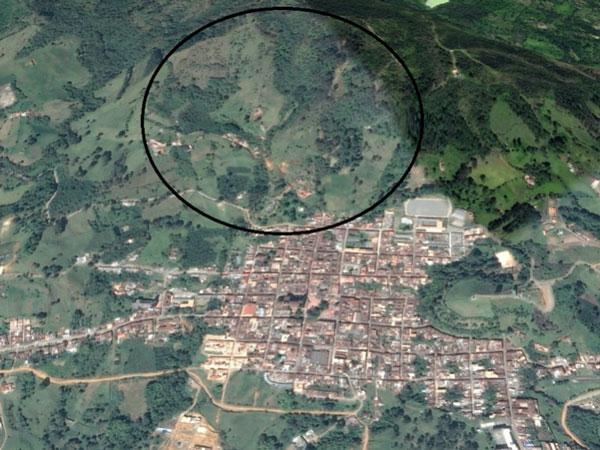 Zona deforestada en Jericó