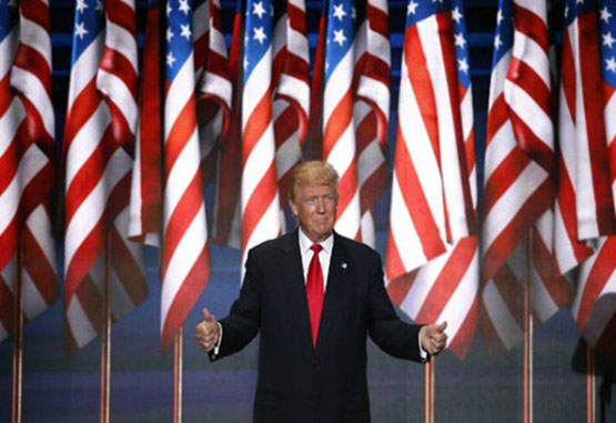 El presidente Donald Trump, toda una sorpresa