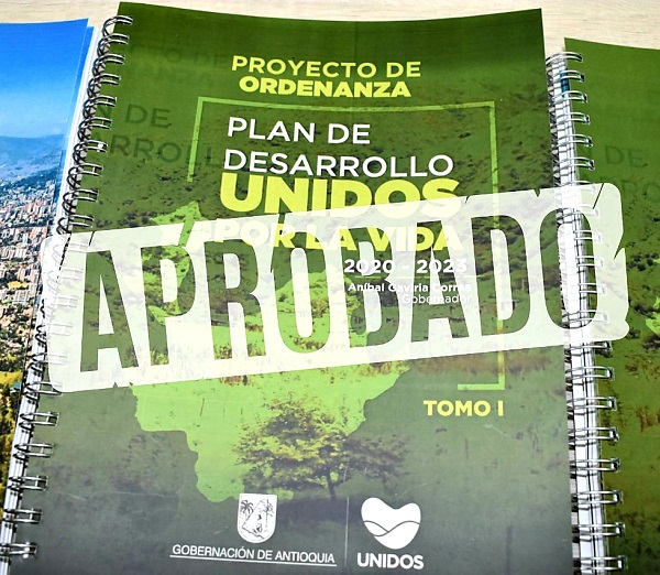 Aprobado Plan de Desarrollo de Antioquia
