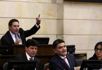 Mauricio Lizcano, presidente del senado.